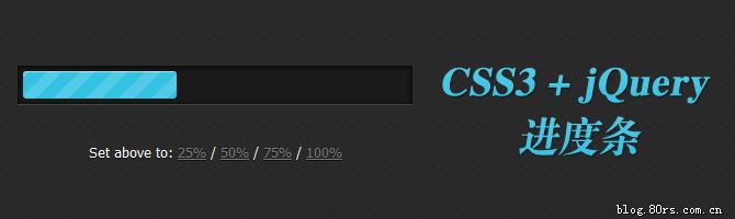CSS3+jQuery Progress Bars(CSS3进度条)